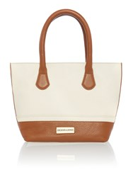 Dickins And Jones Mini Harbury Tote Handbag Porcelain