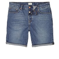 River Island Mens Vintage Blue Slim Fit Denim Shorts
