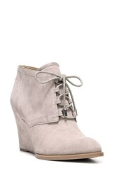 Franco Sarto Women's 'Lennon' Lace Up Wedge Bootie Mushroom Suede