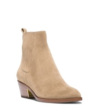 Michael Kors Patrice Suede Ankle Boot Nude