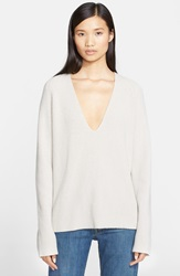 Helmut Lang Cashmere And Wool V Neck Sweater Vapor