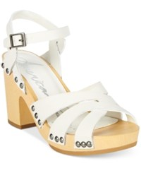 American Rag Cassidy Wooden Platform Sandals Only At Macy's Women's Shoes White