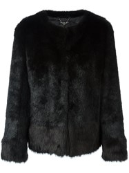 Twin Set Faux Fur Jacket Black