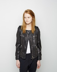 Etoile Isabel Marant Kady Leather Jacket Black