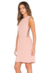 Hoss Intropia Side Lace Up Mini Dress Blush
