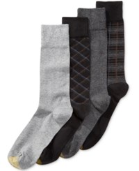 Gold Toe Men's 4 Pk. Plaid Dress Socks Black