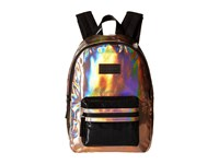 Little Marc Jacobs Leather Effect Backpack With Leather Label Cuivre Rose