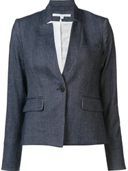 Veronica Beard Tweed Blazer Grey