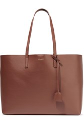 Saint Laurent Shopping Large Textured Leather Tote Brown
