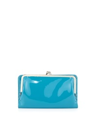 Hobo Diane Patent Leather Continental Wallet Pool