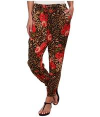 Volcom Girl Code Pant Leopard Women's Casual Pants Animal Print