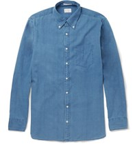 Gant Button Down Collar Cotton Shirt Blue