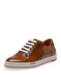 Berluti Playtime Leather Sneaker Brown Size 10.5D
