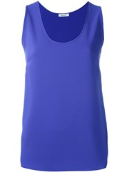 P.A.R.O.S.H. Scoop Neck Tank Top Blue