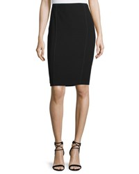 Elie Tahari Jasper Fluid Crepe Pencil Skirt Black