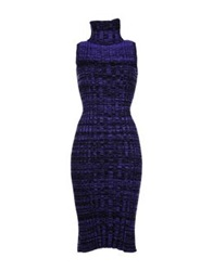Mark Fast Knee Length Dresses Purple