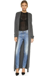 Torn By Ronny Kobo Alexi Cashmere Duster Battleship Grey
