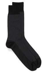 John W. Nordstromr Men's Big And Tall Nordstrom 'Large Diamond' Socks Black Charcoal