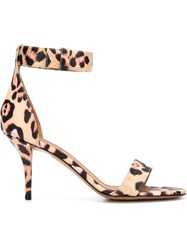 Givenchy Leopard Print Sandals Nude And Neutrals