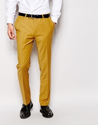 Noose And Monkey Suit Trousers In Skinny Fit Mustard