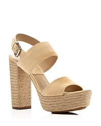 Michael Kors Summer High Heel Platform Sandals Ecru