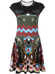 Mary Katrantzou 'Pinto' Graphic Cowboy Print Dress Black