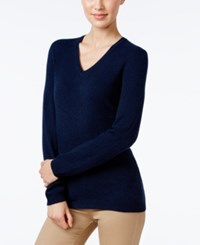 Charter Club Petite Cashmere V Neck Sweater Only At Macy's Admiral