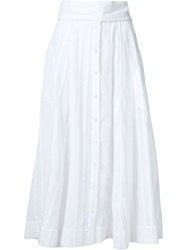Lisa Marie Fernandez 'Waist Tie Button' Skirt White