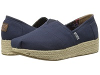 Bobs From Skechers Wedge Espadrille Memory Foam Navy Women's Wedge Shoes