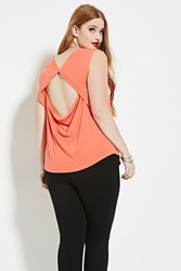 Forever 21 Plus Size Cutout Back Top Coral