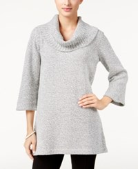 Karen Scott Marled Cowl Neck Tunic Sweater Only At Macy's Bright White Marl