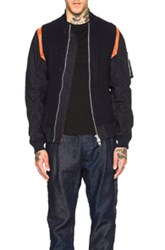 Sacai Knit Bomber In Blue