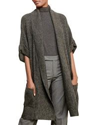 Lauren Ralph Lauren Cotton Cashmere Shawl Cardigan Grey