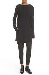 Dkny Women's Boat Neck High Low Tunic Black