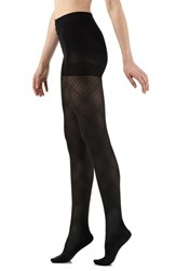 Women's Vim And Vigr Opaque Argyle Compression Tights
