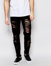 Other Uk Skinny Jeans With Distressing Black