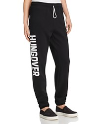 Private Party Hungover Sweatpants Black White