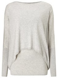Phase Eight Charley Double Layer Jumper Silver Marl