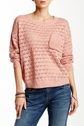 Blvd Long Sleeve Knit Pullover Pink