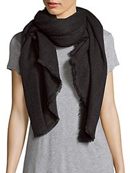 Bajra Solid Wool Scarf Black
