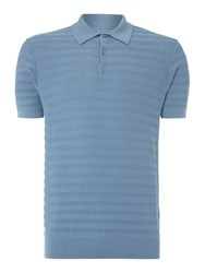 Peter Werth Lense Cotton Short Sleeved Polo Pool