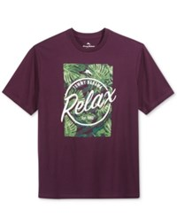 Tommy Bahama Men's Relax Graphic Print T Shirt Rum Berry