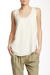 Shades Of Grey Woven Knotted Tank