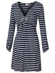 Fat Face Cotswold Stripe Tunic Top Navy