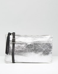 New Look Leather Cross Body Bag Silver