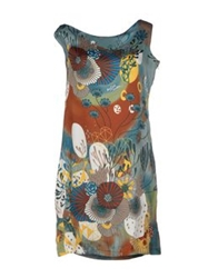 Pam And Arch Short Dresses Slate Blue