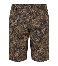 Dolce And Gabbana Camouflage Print Shorts Male Forest