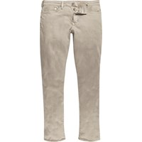 River Island Mens Light Brown Dylan Slim Fit Jeans