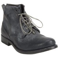 Shoto Washed Lace Up Ankle Boots Black