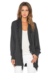 Riller And Fount Ida Fringe Cardigan Charcoal